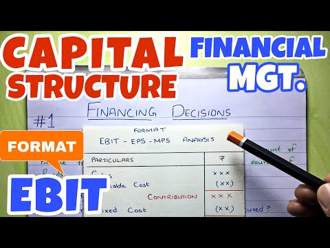#1 Capital Structure - Financing Decision - Financial Management ~ B.COM / BBA / CMA