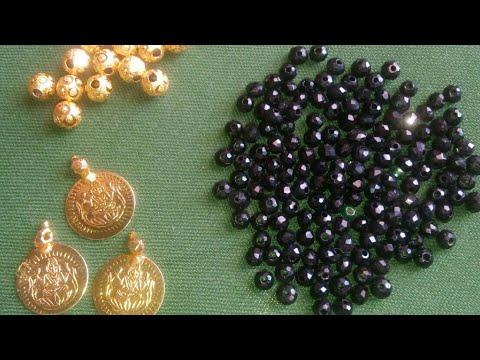 Latest Black Beads Lakshmi Kasu Neckset Design // #nallapusalu // Beads Jewellery// Kasula Mala
