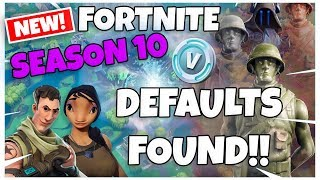 REAL DEFAULTS FOUND IN FORTNITE SEASON 10!!! | Fortnite