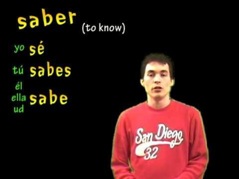 02 Spanish Lesson  - Present: saber (to know)
