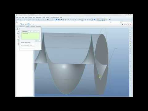 Pro/Engineer MCAD Forum Question Answer: Helical cut to create helical gear