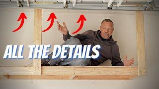 DIY Hanging Garage Shelves (Ceiling Mount Detail)