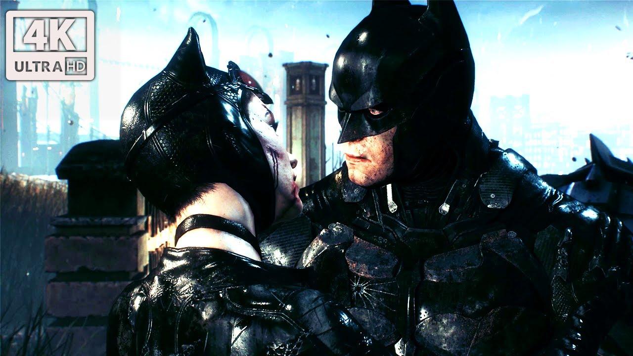 Batman Earns A Kiss From Catwoman (Batman Arkham Knight) 4K UHD