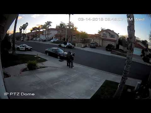 Guy Being Arrested Tries to Run - Two Views