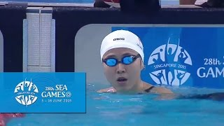 swimming women s 100m freestyle heat 2 day 3   28th sea games singapore 2015