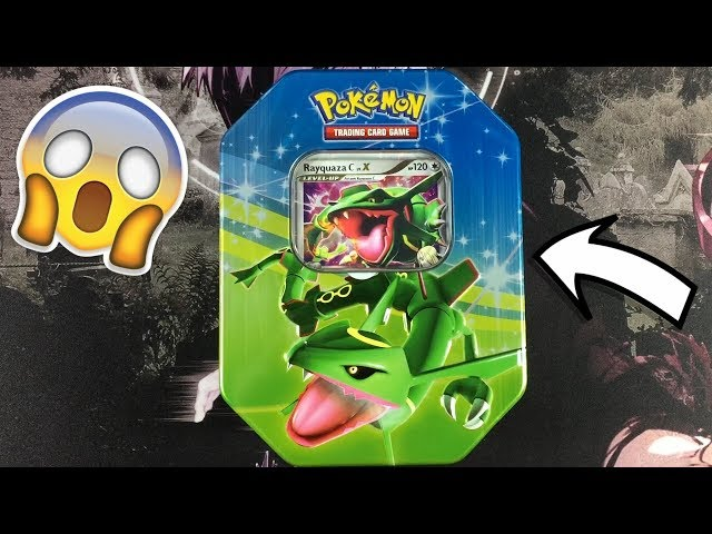 YOU WONT BELIEVE THIS! OPENING THE BEST RAYQUAZA LV.X TIN EVER!