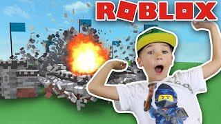 DESTRUCTION SIMULATOR in ROBLOX BUYING CHICKEN LAUNCHER!!!