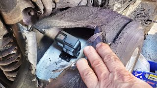 GoPro Inside Tire doing a Full Burnout