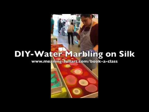 DIY - Water Marbling on Silk at Meaning-Full Art
