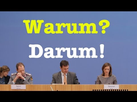 Warum? Darum! - Komplette Bundespressekonferenz vom 12. Dezember 2016