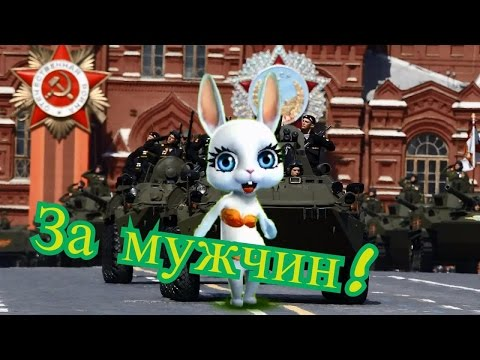 Zoobe Зайка С днем защитника отечества! - Как поздравить с Днем Рождения