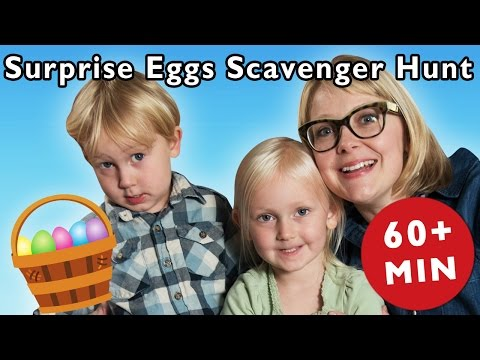 Surprise Eggs Scavenger Hunt and More | Game with Secret Eggs | Baby Songs from Mother Goose Club!