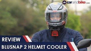 BluSnap Helmet Cooler Review | NDTV carandbike
