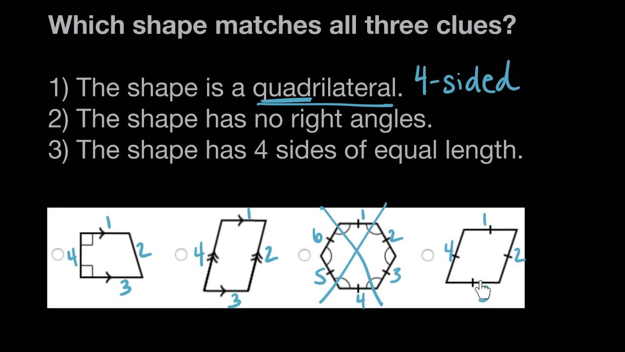 Classifying shapes by lines and angles   Math   4th grade   Khan Academy -  YouTube [ 720 x 1280 Pixel ]
