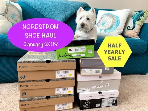 Nordstrom Shoe Haul - January 2019:  boots, booties, shoes!!👠👢