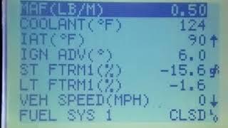 prueba de sensor MAF y sensor IAT con escaner