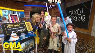 Family surprised with tickets to Disneyland's new Star Wars: Galaxy's Edge l GMA
