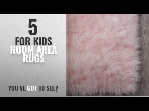Top 10 For Kids Room Area Rugs [2018 ]: Serene Super Soft Faux Sheepskin Shag Silky Rug Baby Nursery
