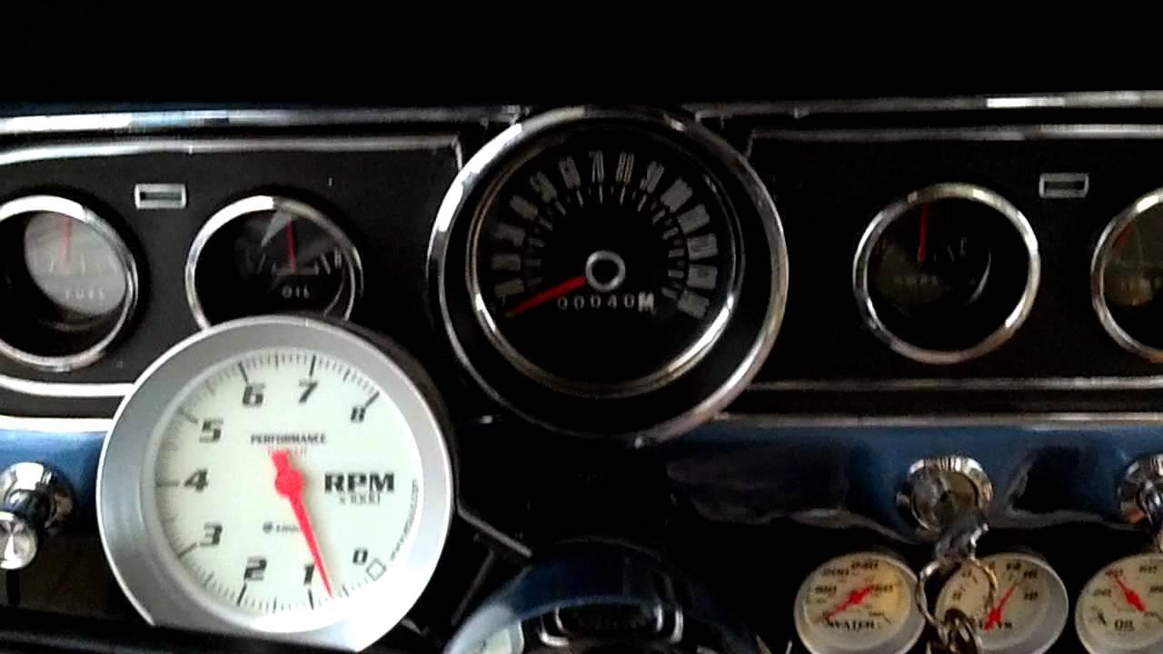 medium resolution of 66 mustang with tachometer