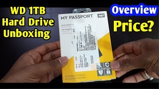 WD 1TB USB HardDisk Unboxing WD MY Passport USB 3 0 1TB Portable Hard Drive Overview Technology up
