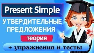 Грамматика для начинающих Урок 9 Present Simple Утвердительные предложения  Теория