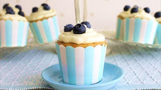 Blueberry Compote Cupcakes with Cream Cheese Frosting  Food Finessa