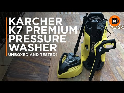Karcher K7 Premium Full Control Pressure Washer Unboxing and testing