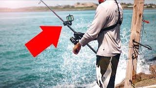 NEW fishing technology finds fish!  - jetty fishing
