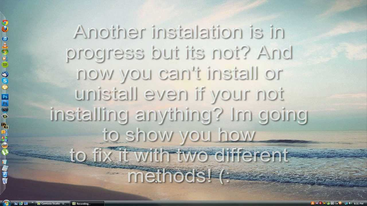 Cant install or uninstall (Error 1500) Another installation is in progress