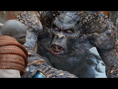 God of War PS4 - Ogre Boss Fight #5 (Give Me God of War Hard Difficulty) (4K)