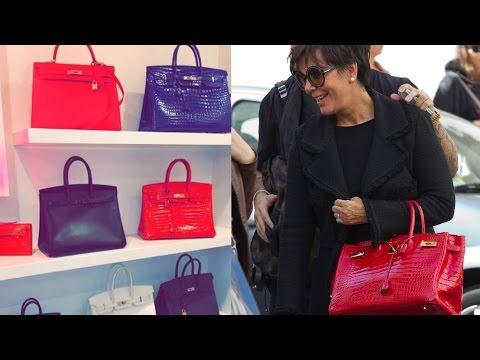 Kylie Jenner Shows Off Mom Kris Jenner's Birkin Bag Collection