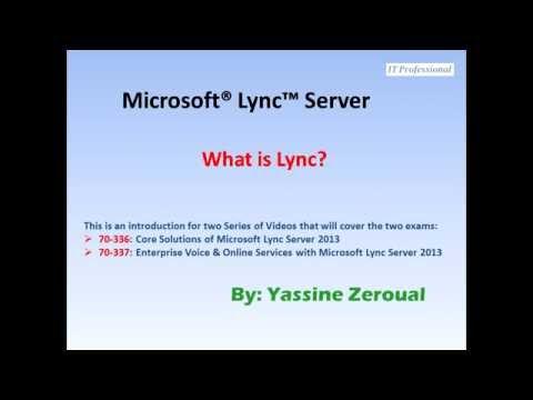 Introduction to Microsoft Lync Server 2013