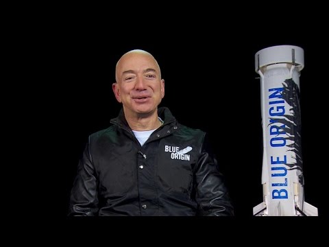 Jeff Bezos on launching first fully reusable space rocket