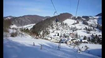 Wannen-Skilifte und Pisten in Langenbruck (BL), 4. Februar 2010