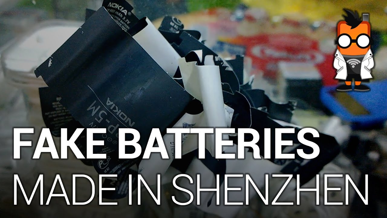Counterfeit Batteries from China - Behind the Scenes