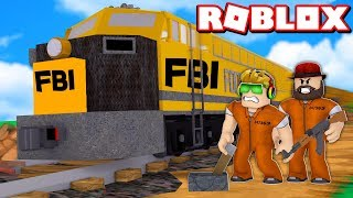 LET'S STOP THE TRAIN FOR ROBBERY in ROBLOX JAILBREAK *NEW UPDATE*