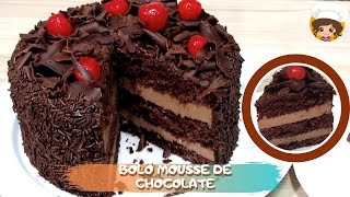 BOLO MOUSSE DE CHOCOLATE 🎂🍫- MIL DELÍCIAS NA COZINHA