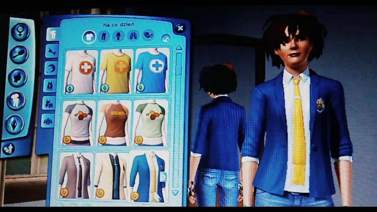 Ciuchy I Fryzury W Sims 3 Studenckie życie