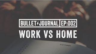 Work vs Personal Bullet Journal