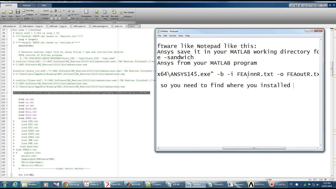 Interface MATLAB and ANSYS