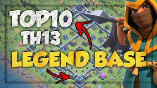 Top 10 Th13 Legend League Base || Town Hall 13 Cup Base || Legend League Base For Trophy Pushing