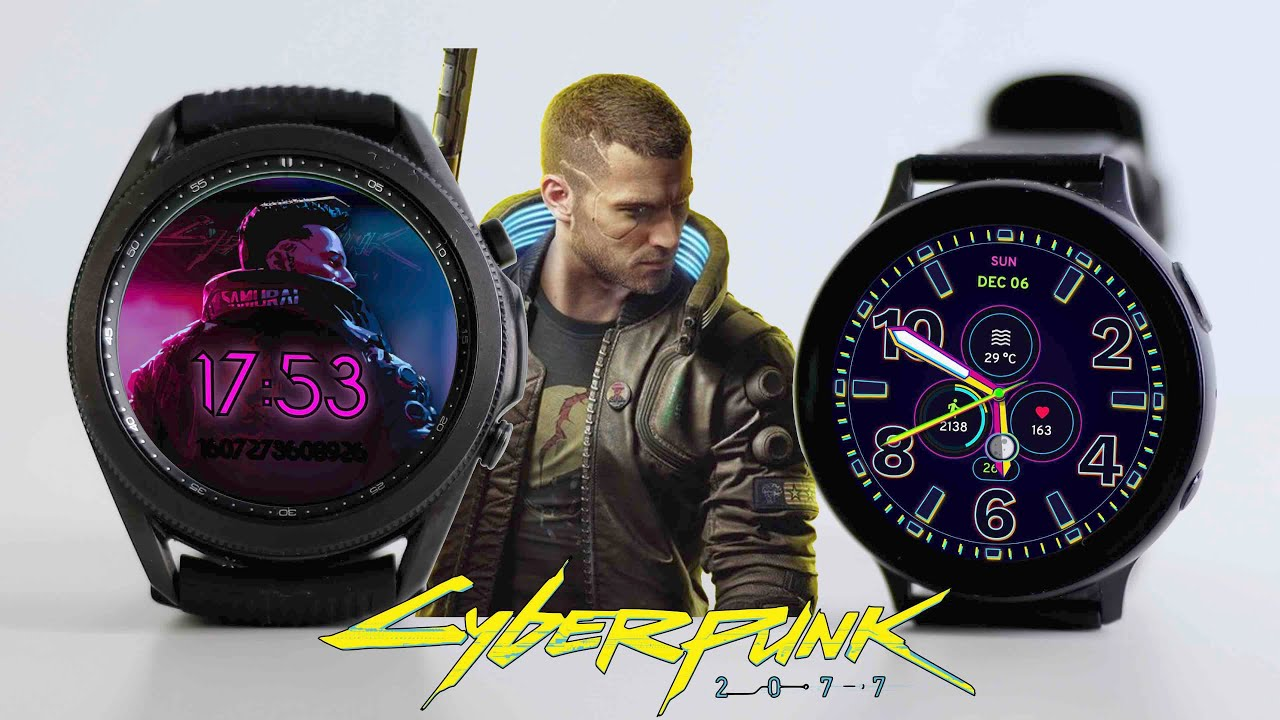 Galaxy Watch 3 vs Active 2 - CYBERPUNK 2077 EDITION (WATCH FACES REVIEW)