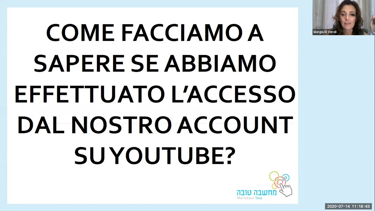 Youtube - uso come utente registrato