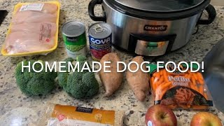 HOMEMADE DOG FOOD!