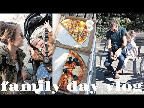 FAMILY VLOG | Vegan Pizza, Train Ride & Pregnancy