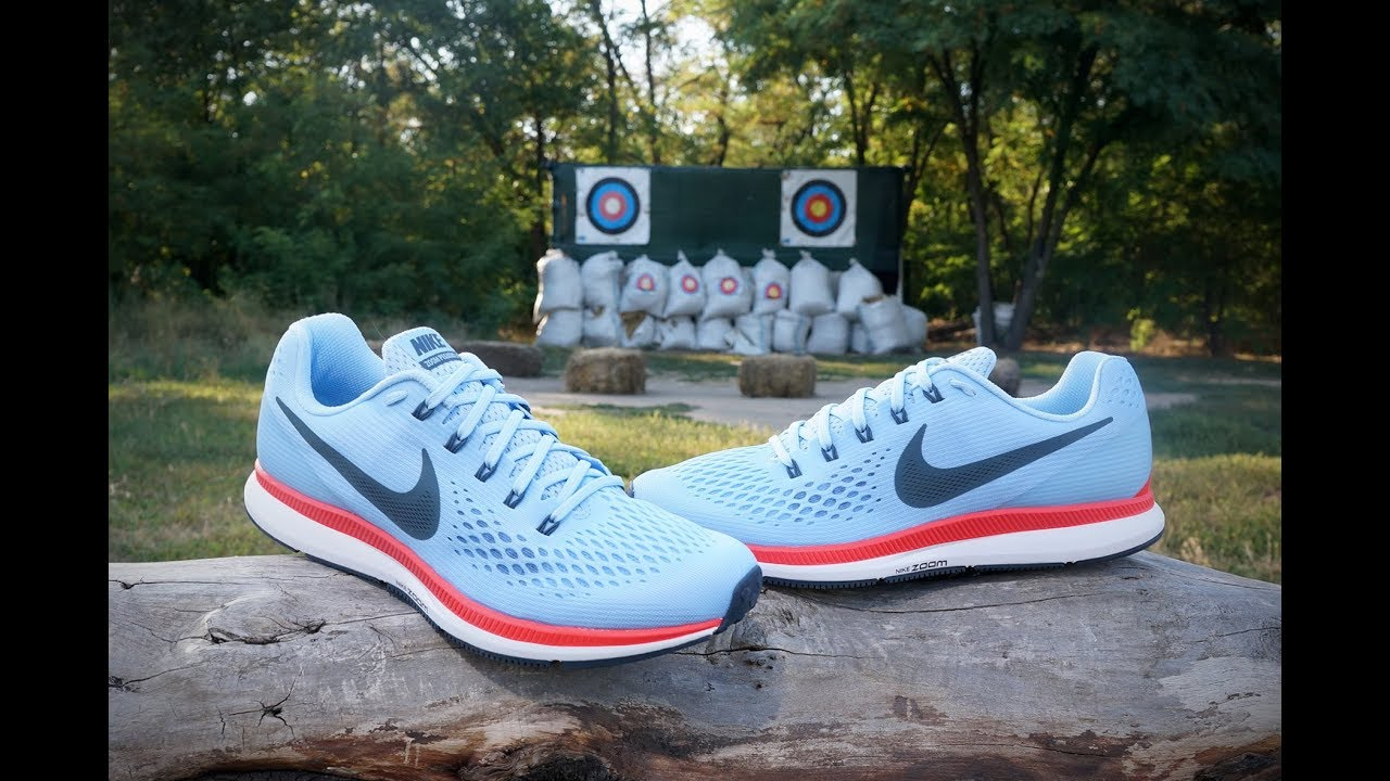 1adfa05775e5 Nike Air Zoom Pegasus 34 Ice Blue Bright Crimson White Blue Fox 880555-404