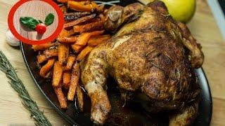 Este pollo asado al horno con limón y especias es muy rico, ligero ...