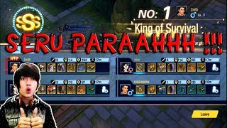 PARAH !! SERU ABIS !! BATTLE ROYALE DENGAN SENTUHAN MOBA - SURVIVAL HEROES GAMEPLAY ANDROID