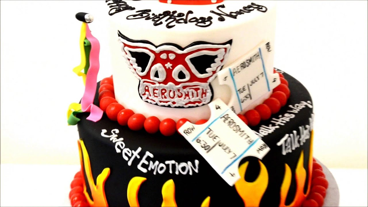 Rock And Roll Theme Cake Example Youtube