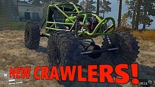 SpinTires MudRunner: NEW CRAWLER and V8 ROCK BOUNCER!